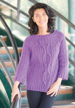 Friday Harbor Oversized Cabled Raglan in Cascade Yarns Friday Harbor - W761
