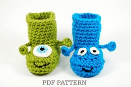 Alien & Monster Baby Boots with Handles
