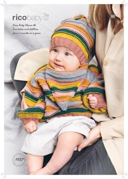 Baby's Hat, Jumper and Shawl in Rico Baby Classic DK - 1027 - Downloadable PDF