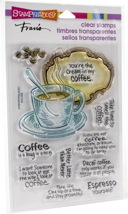 Stampendous Perfectly Clear Stamps - Coffee Frame