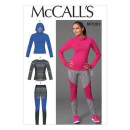 McCall's Misses' Tops and Leggings M7261 - Sewing Pattern
