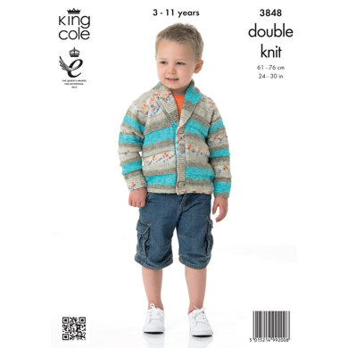 Childrens' Cardigan in King Cole Splash DK - 3848