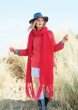Sweater and Scarf in Rico Essentials Mohair - 361 - Leaflet