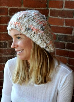 Slouchy Beret in Knit Collage Gypsy Garden