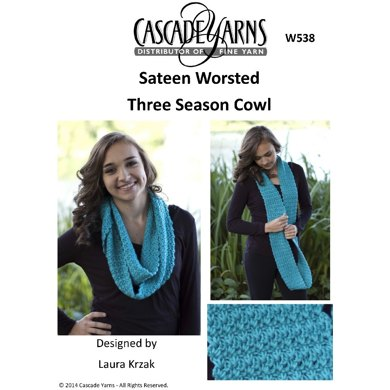 Three Season Cowl in Cascade Sateen Worsted - W538