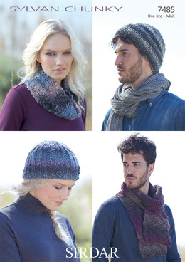Hats, Scarf and Snood in Sirdar Sylvan - 7485