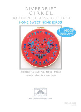 Riverdrift House Home Sweet Home Birds Cross Stitch Kit with Hoop - Multi