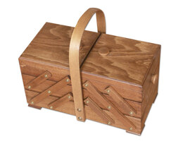 Medium Cantilever Sewing Box, Beech Wood - Brown Colour
