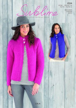 Jacket and Waistcoat in Sublime Lola - 6124   - PDF