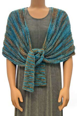 Long Tailed Wrap (FP6) in Prism Yarns Indulgence