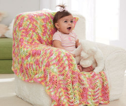 Baby Waves Blanket in Caron Simply Baby Ombre - Downloadable PDF