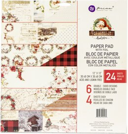 "Prima Marketing Double-Sided Paper Pad 12""X12"" 24/Pkg - Christmas In The Country, 6 Designs/4 Ea"