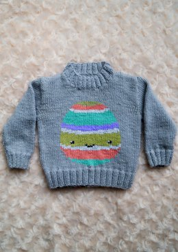 Intarsia - Easter Egg Chart - Childrens Sweater