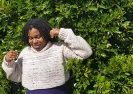 Crochet Cropped Turtleneck