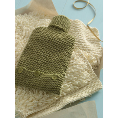 Early to Bed Hot Water Bottle Cozy in Lion Brand Cotton-Ease - 90655AD