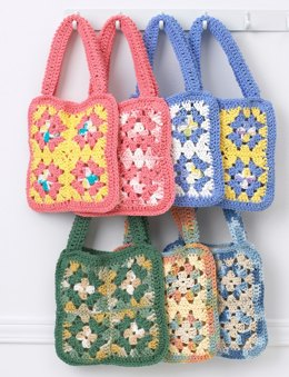 Granny Square Bag in Bernat Handicrafter Cotton Solids