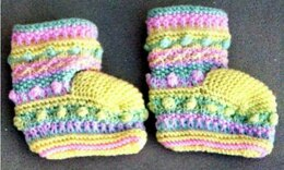 Sampler Stitch Baby Booties