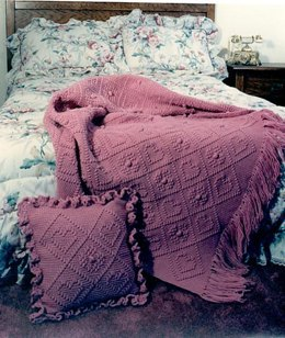 Romantic Rose Afghan and Pillow