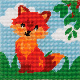 Anchor 1st Kit - Friendly Fox Tapestry Kit - 15cm x 15cm
