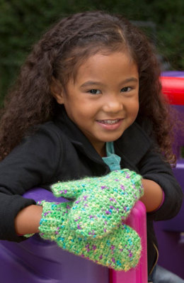 Happy Hands Child Mittens in Red Heart Gundrop - LW4541 - Downloadable PDF