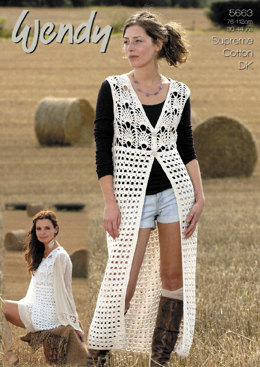 Crochet Waistcoats in Wendy Supreme Cotton DK - 5663