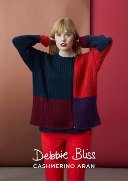 """Marianne Jumper"" - Jumper Knitting Pattern For Women in Debbie Bliss Cashmerino Aran - DB223"