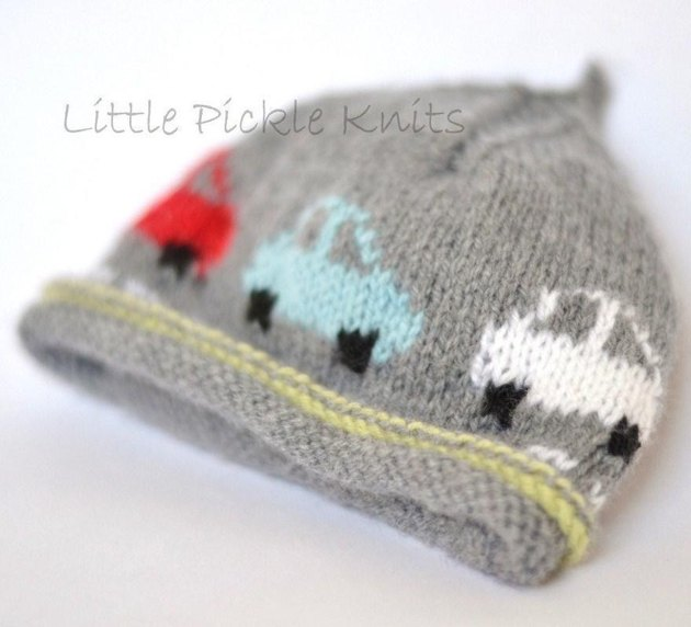 Baby Beanie Little Cars Knitting pattern by Little Pickle Knits K...