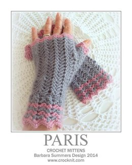 Crochet Mittens PARIS (UK)