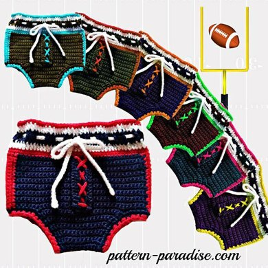 Football Diaper Covers PDF 12-058