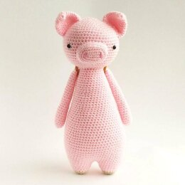 Pig with Owl Backpack Crochet Amigurumi Pattern