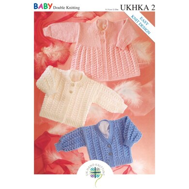 UKHKA 2 Cardigans and Matinee Coat - UKHKA2pdf - Downloadable PDF