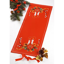 Permin Stars Christmas Tablerunner Cross Stitch Kit - 35cm x 91cm