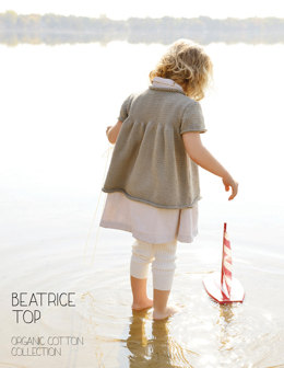 Beatrice Top in Blue Sky Fibers Skinny Cotton - 2811 - Downloadable PDF