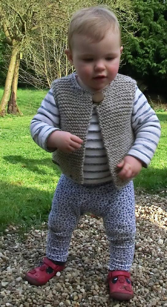 6808a7937 Easy Baby and Child s Gilet Knitting pattern by Ruth Maddock ...
