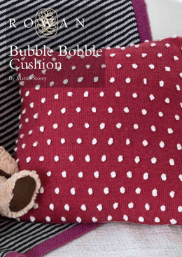 Bubble Bobble Cusion in Rowan Wool Cotton 4 Ply