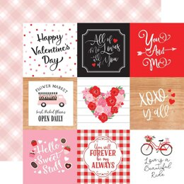 """Echo Park Paper Cupid & Co. Double-Sided Cardstock 12""""X12"""" - 4""""x4"""" Journaling Cards"""