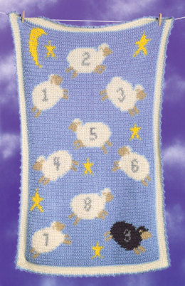 Crochet Counting Sheep Afghan in Lion Brand Jiffy - 20005A