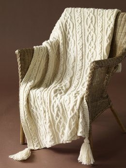 Lover's Knot Afghan in Lion Brand Fishermen's Wool - 60704AD
