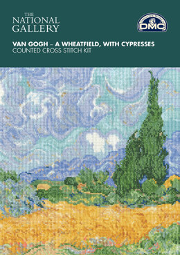 DMC The National Gallery - Van Gogh - A Wheatfield, with Cypresses - 29cm x 23cm