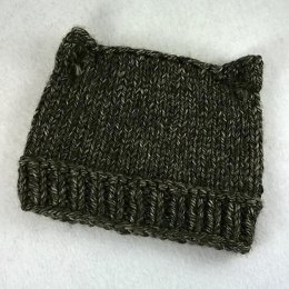 Cat Hat with ponytail opening