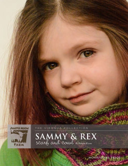 Sammy & Rex Scarf and Cowl in Juniper Moon Moonshine Trios - J8-05 - Downloadable PDF