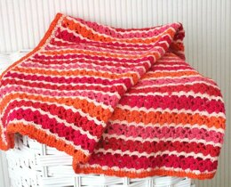 """Simply in red"" baby blanket"