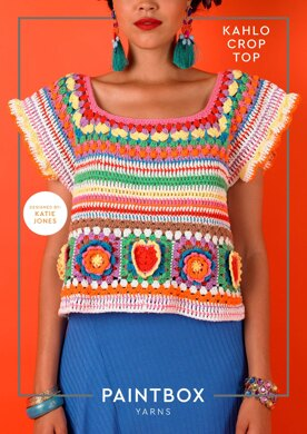 Kahlo Crop Top in Paintbox Yarns Cotton DK - Downloadable PDF
