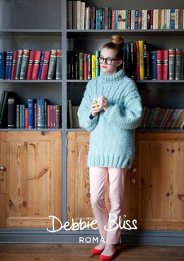 Clarissa Yoke Sweater in Debbie Bliss Roma - DBS025 - Downloadable PDF