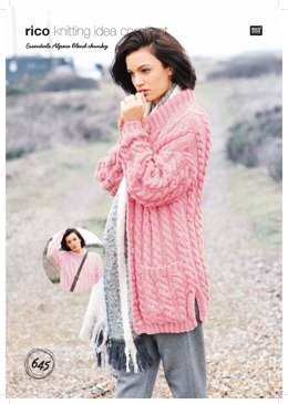 Sweater and Cardigan in Rico Essentials Alpaca Blend Chunky - 645 - Downloadable PDF