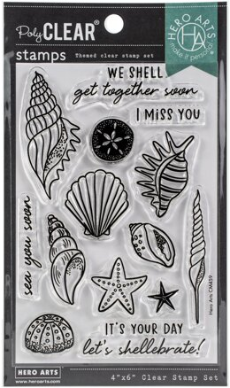 """Hero Arts Clear Stamps 4""""X6"""" - Sea You Soon"""