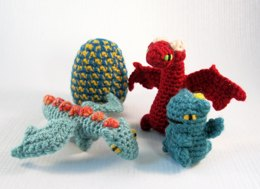 Mini Pets in Eggs - Dragon Hatchling Amigurumi