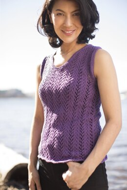 Summertime Lace Tank in Cascade Yarns Sarasota - DK610 - Downloadable PDF
