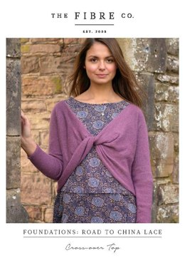 Cross-over Top in The Fibre Co. Road to China Lace - Downloadable PDF
