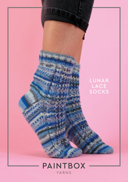 """Lunar Lace Socks"" - Free Socks Knitting Pattern in Paintbox Yarns Socks"